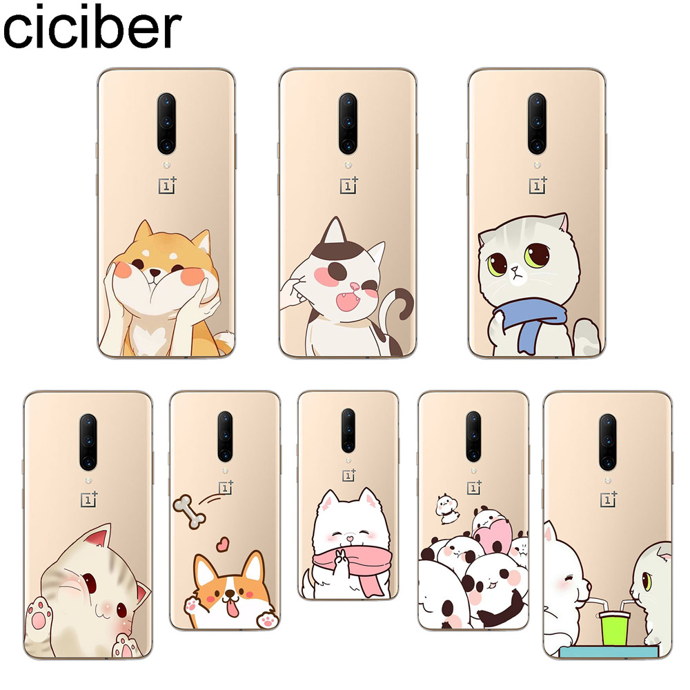 ciciber Cute Animal Dog Cat Phone Case For font b Oneplus b font font b 7