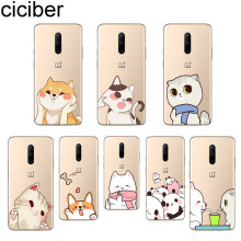 ciciber Cute Animal Dog Cat Phone Case For Oneplus 7 Pro 1+7 Pro Soft TPU Cover for Xiaomi 9 Coque For Redmi Note 7 6 Pro Fundas