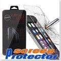 100 UNIDS templado Protector de pantalla de super dureza de la película protectora Para Samsung galaxy s7 s6 s5 note 5 4 iphone 7 6 s 5 5S