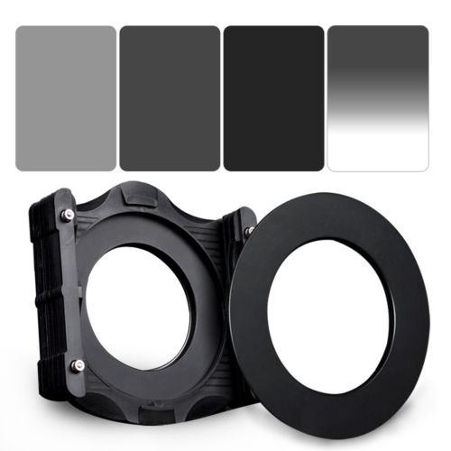 Zomei 100*150mm cuadrado ND2 + ND4 + ND8 Filtro de degradado + () anillo adaptador + soporte para cokin Z-PRO.