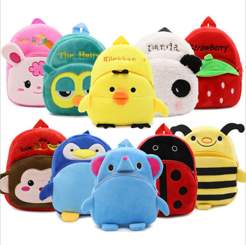 Cute Plush Children Backpacks Kindergarten Schoolbag 3D Cartoon Anime Animal Kids Backpack Children School Bags for Girls Boy(China)