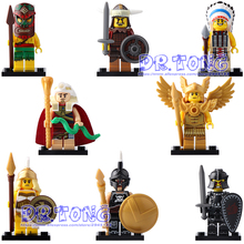 DR TONG X0163 Super Heroes Pharaoh Atlantis Mummy Viking Egyptian Aztec Warrior Barbarian Building Blocks Toys