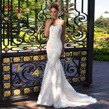 Jark Tozr Mermaid Wedding Dresses With Three Quarter Sleeve