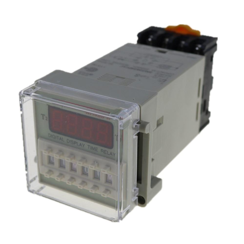 AC110V DH48S-2Z 220V 8 Pin Rel/é temporizador temporizador de pantalla digital para control de retardo de tiempo