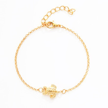 Gold Color Metal Tortoise Charm Bracelets For Women Adjustable Link Chain Turtle Bracelet Couple Bangle Jewelry