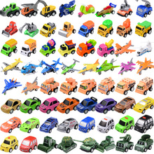 5pcs korean cartoon power coin Watch Car character bus Pull back Miniature Toys