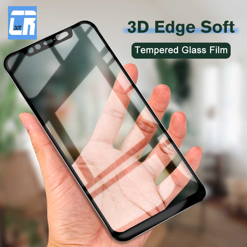 3D Melengkung Lembut Edge Full Cover Tempered Glass untuk Xiaomi 8 Youth 8 Se Mi A2 Lite Mix 2 3 redmi Note 5 PRO Pelindung Layar