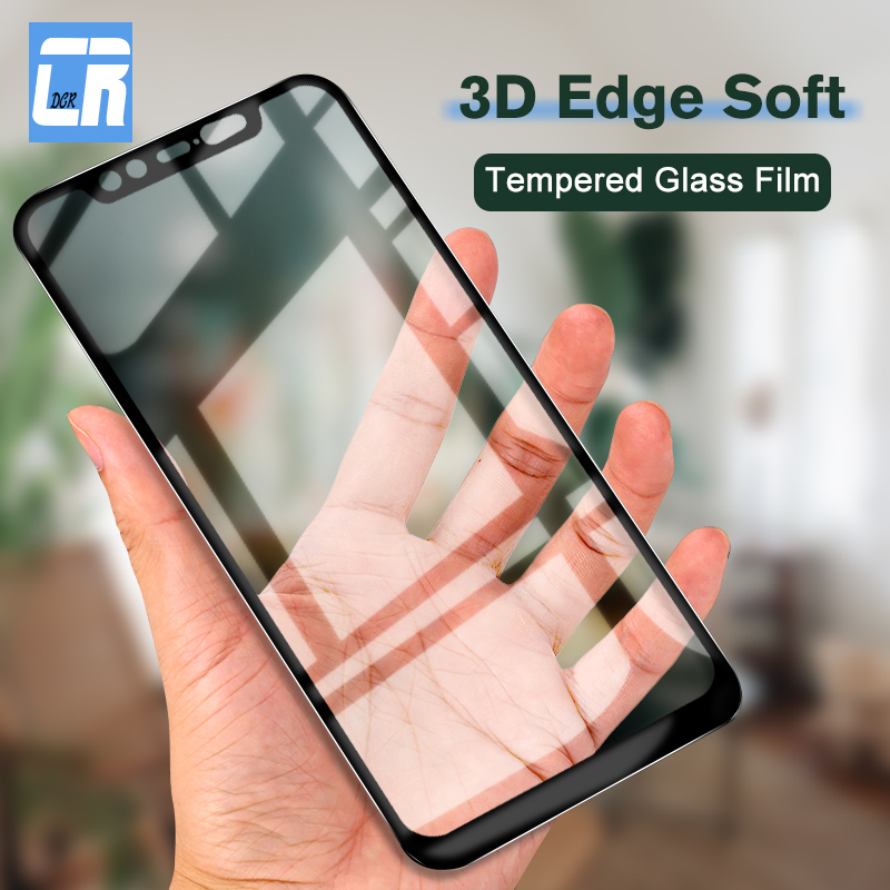 3D Curved Soft Edge Full Cover Tempered Glass for Xiaomi 8 Youth 8 SE Mi A2 Lite Mix 2 3 Redmi Note 5 Pro Screen Protector Film(China)