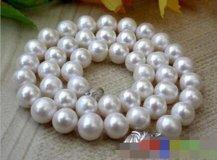 FREE SHIPPING>@@> 3683 ROUND WHITE FRESHWATER PEARL NECKLACE цена и фото