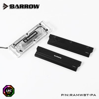 Barrow a PMMA water cooling block RAM 4 channels compatible water cooling kit RAM Water block cooler with armor RAMWBT PA