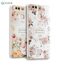 Super 3D Relief Printing Clear Soft TPU Case For Huawei P9 Plus 5 5 Inch Phone