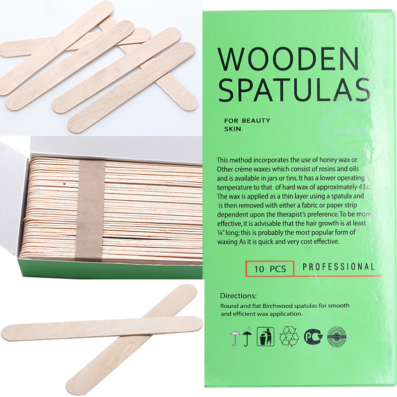 Disposable Wooden Waxing Spatulas Smal/thin 10pcs 150*18mm Hair Removal Stick Applicators Professional Facial Spa Manicure Tools