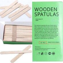 Disposable Wooden Waxing Spatulas Smal/thin 10pcs 150*18mm Hair Removal Stick Ap