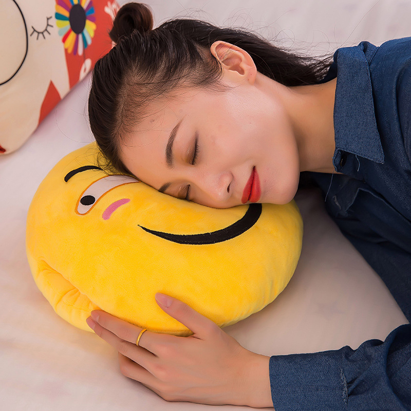 38cm*30cm emoj plush soft hand warmer doll pillow girl children birthday gift funny stuffed toy CH-165
