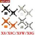 Original syma x8 x8c x8w x8g drone peças de reposição extra corpo principal shell capa para rc helicóptero de brinquedo acessórios