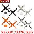Original syma x8 x8c x8w x8g drone repuestos extra cubierta de la cáscara del cuerpo principal para rc helicóptero accesorios de juguete