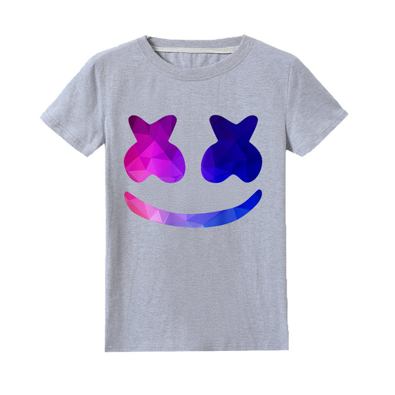 New DJ Marshmello Mask Music 100/% Cotton T shirts Summer Casual T shirts Tops