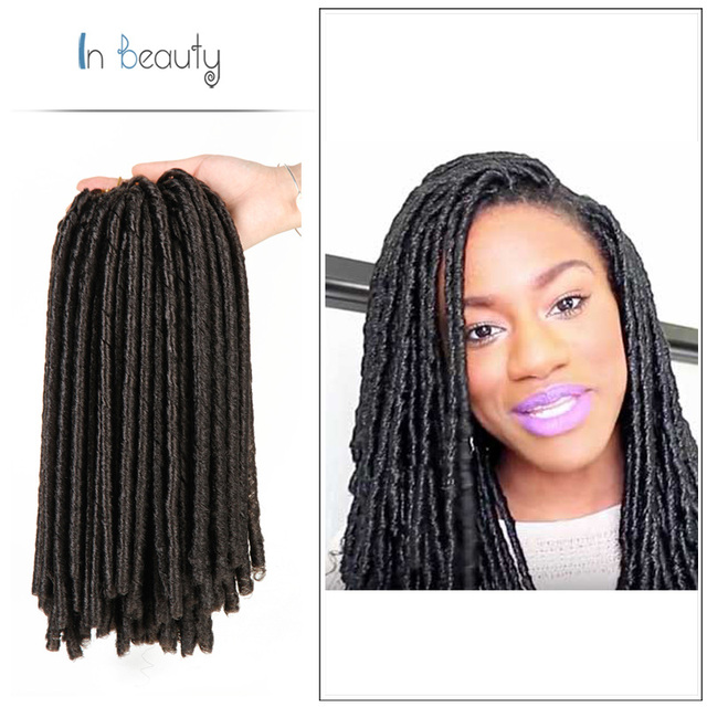 14 Inch Natural Black Short Soft Locs Kinky Twist Hair Synthetic