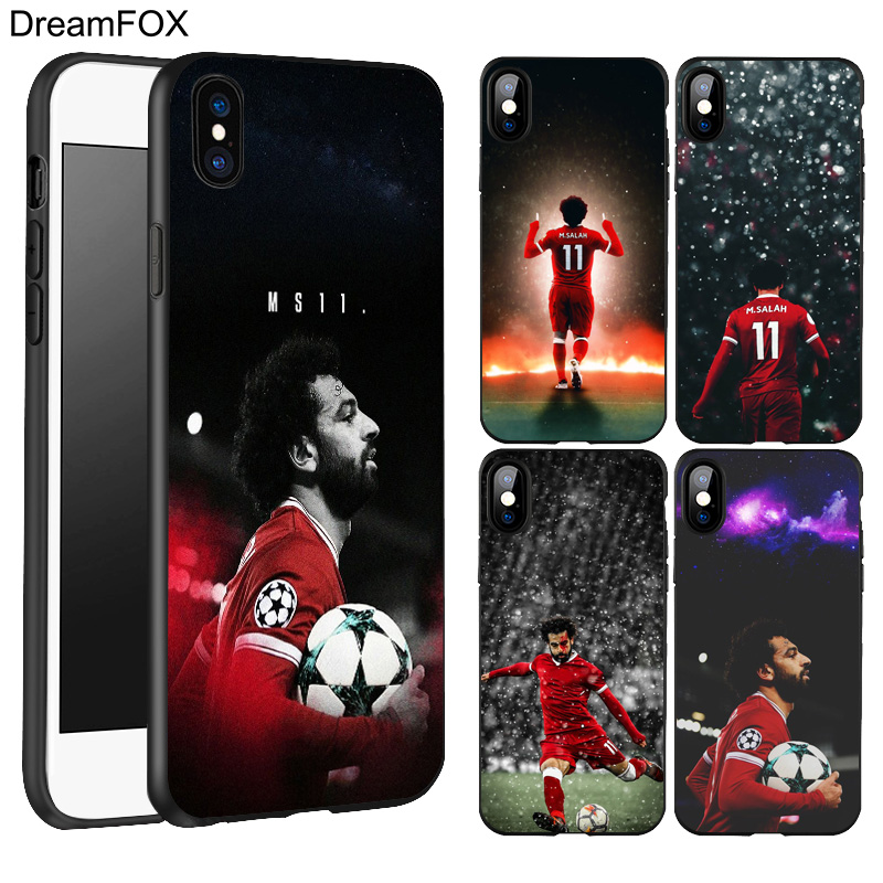 DREAMFOX L536 Mohamed M.salah 11 Black Soft TPU Silicone Case Cover For Apple iPhone X 8 7 6 6S Plus 5 5S 5G SE ...