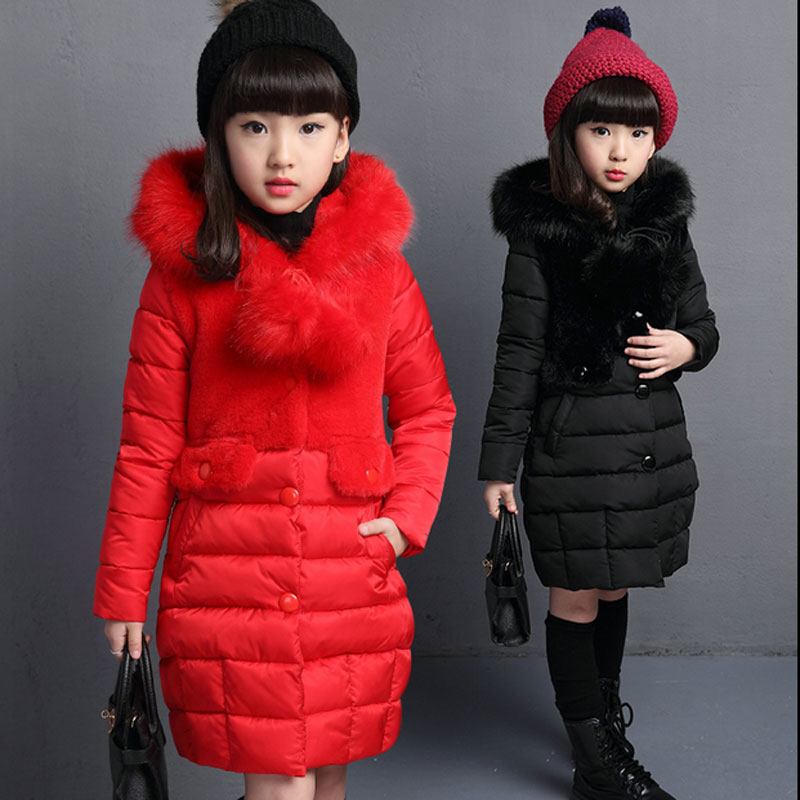 Children Girls clothing coats 2017 winter Korean long thick jacket for girls kids clothes casual sports hooded outerwear jackets new children down jacket out clothing winter ski clothes winter jacket for girls children outerwear winter jackets coats