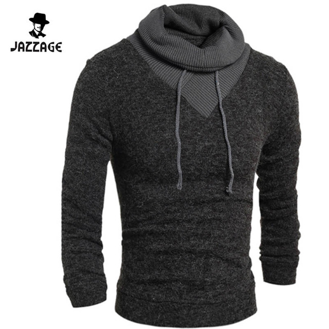 2016 Turtleneck Sweater Stylish Knitted Long Sleeve High-Neck pullover Sweaters Men Sweater Male Sweaters Pullover-Size XXL dw11