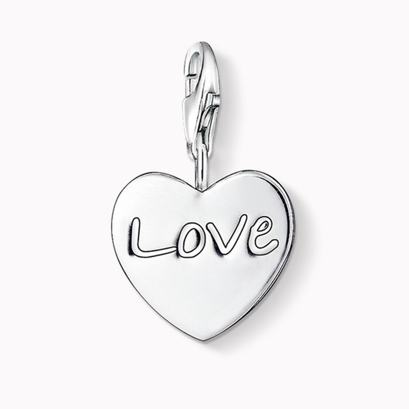 Muffiy бренд сердце любовь Шарм для браслета Колье серебряное Цвет Романтический Chaveiro Для женщин ювелирные изделия друг подарков Wanita Cantik Bijoux