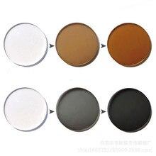 1.56/1.61/1.67 색인 비구면 포토 크로 믹 렌즈 CR 39 처방 근시안 안경 렌즈 방사 광학 렌즈