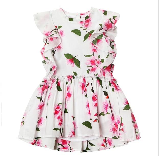 2016 Summer New Princess Girl Dress kids Big Bow Girl Dress Children Clothing dress Girls Vestido