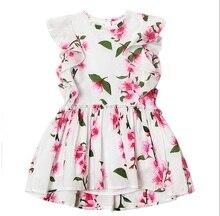 2016, Лето, Новый Принцесса Платье Девушки дети Большой Лук Платье Девушки Детская Одежда платье Девушки Vestido Infantis