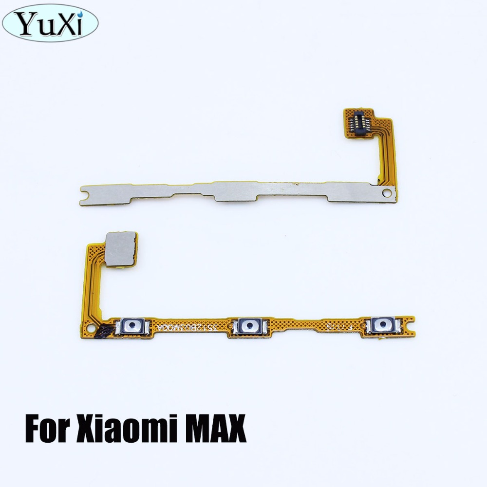 YuXi Brand 1 Pcs For Xiaomi Max Mimax Side Power ON OFF Volume Key Button Switch Flex Cable Ribbon Replacement Parts
