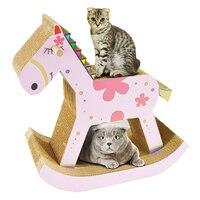 Pet Cat Scratching Pad Post Scratch Board Trojan Horse Cat Litter House Furniture Climbing Scratcher Tree Mat Scratch Shelf Toys