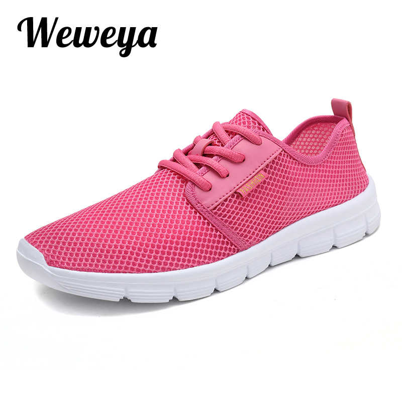 Weweya Woman casual shoes Breathable 2019 Sneakers Women New Arrivals  Fashion mesh sneakers shoes women Plus c04c978373c7