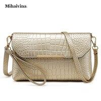 PU Leather Alligator Clutch Bag Fashion Women Messenger Shoulder Bags Ladies Evening Purse Clutch Bag Casual