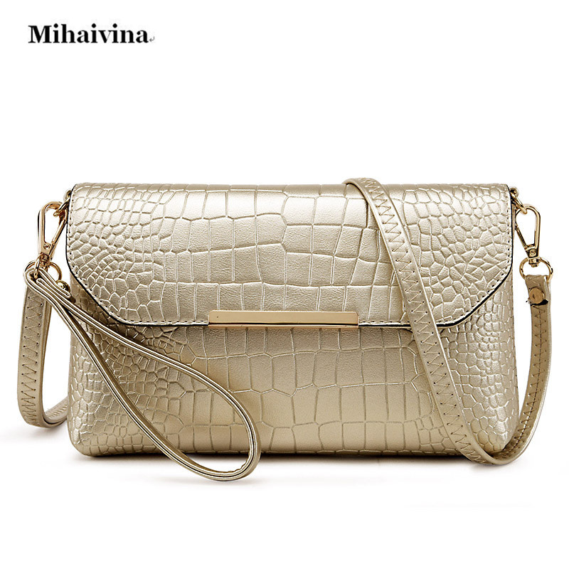 PU Leather Alligator Clutch Bag Fashion Women Messenger Shoulder Bag Ladies Evening Party Purse Clutch Bags Casual Small Handbag маленькая сумочка women bag atrra yo women bags for women messenger bags ladies clutch shoulder bag wallet