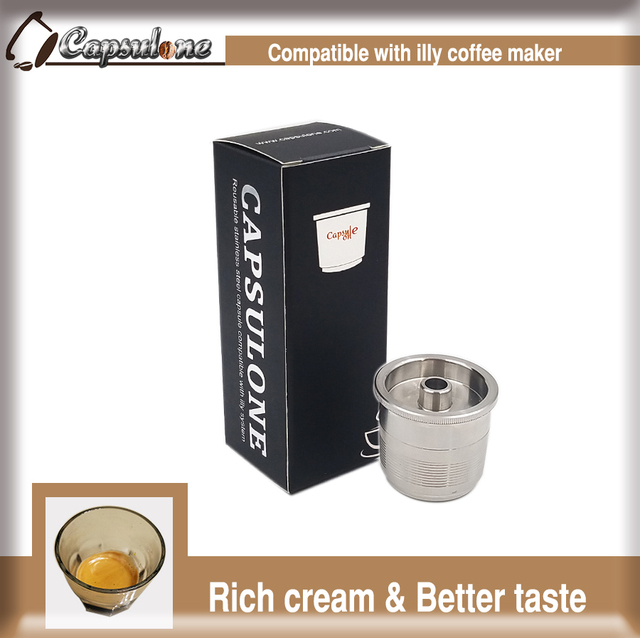 Souvent Capsulone/Compatible with illy coffee Machine maker/STAINLESS  OQ09