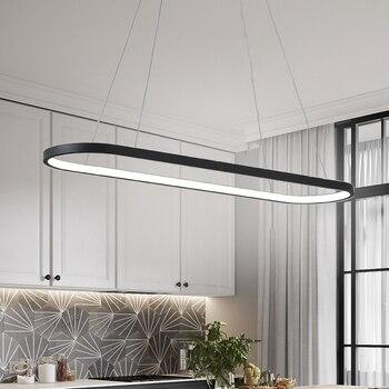 Black White Modern Led pendant light for Restaurant Bar Kitchen Coffee House RC Dimming Led pendant lamp Free Shipping