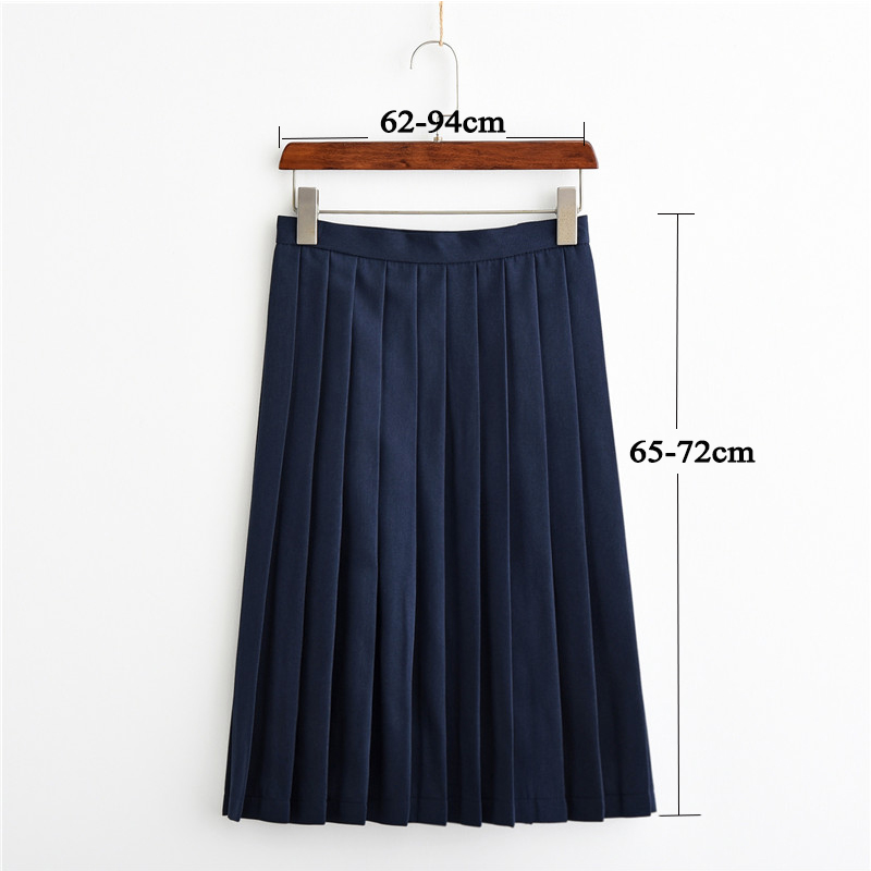 UPHYD Women Fashion Long Pleated Skirt Adjustable Waist Wind Cosplay Kawaii Female School Uniform Skirts S-3XL
