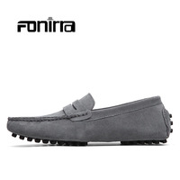 Men Casual Shoes Fashion Men Shoes Genuine Leather Men Loafers Flats In 10 Colors Chaussure Homme