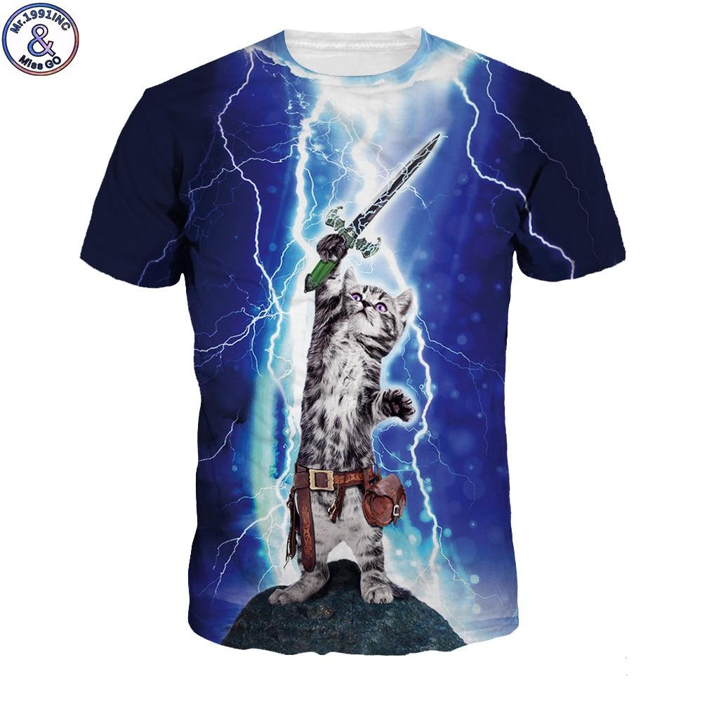 Warrior Cat 3D t shirt Flash Style Hip Hop T-shirts Harajuku Gothic Streetwear Mens Casual Plus Size Funny Cat tshirt Tops