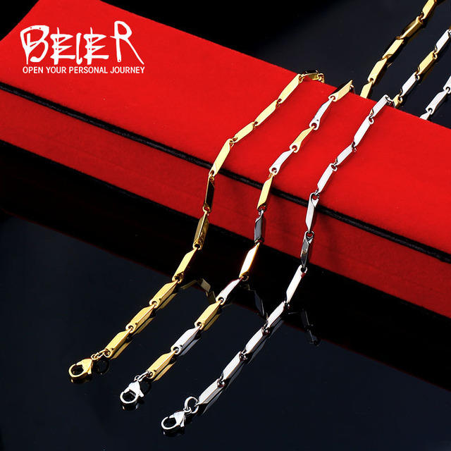 BEIER Wholesale Cheap Man's Fashion Jewelry Stainless Steel Seeds For Man Woman
