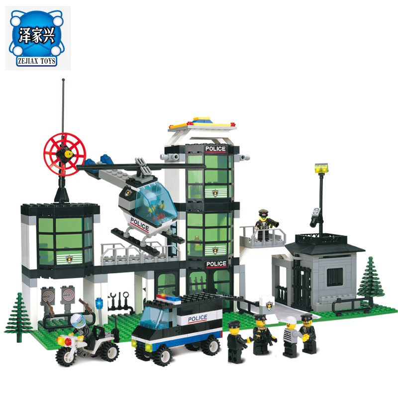 Building Blocks Action Figure City Police Station 3D Block Assembling Bricks Educational Toys for Children Compatible Legoing compatible lepin city blocks block police dog unit 60045 building bricks bela 10419 policeman toys for children