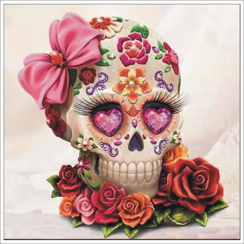 Full Square/Round Drill 5D DIY Diamond Painting Flower skull Embroidery Cross Stitch 5D Home Decor GiftT036