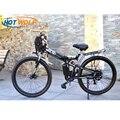 Bicicletta elettrica Elettrico Potente anteriore Della Bici del sacchetto di 48 V 12AH 500 W eBike montagna 24 Velocità Bici Elettrica Russia trasporto trasporto libero