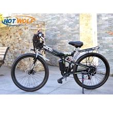 Электрический велосипед мощный электрический велосипед Передняя сумка 48 В 12AH 500 Вт горный eBike 24 скорости Электрический велосипед Россия Бесплатная доставка