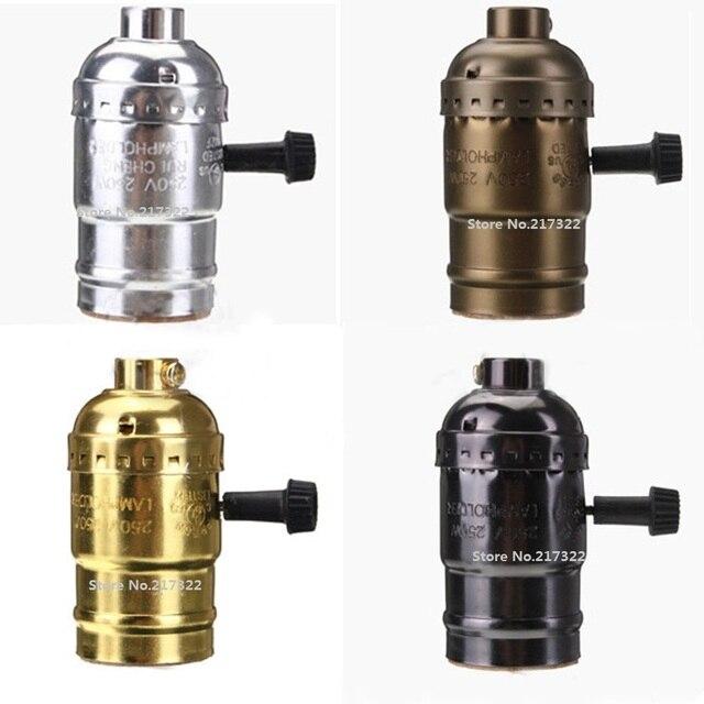 Vintage E27 Aluminium Lampenfassung Ohne Schalter Messing Gold