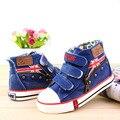 Niños Zapatillas de Deporte Del Bebé Niños Niñas Casual Zapatos de Lona Sólidos UK Flag Hook Loop Transpirable Zapatos para la Primavera Otoño Navidad