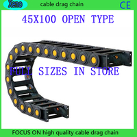 Free Shipping 45x100 1 Meters Bridge Type Plastic Cable Drag Chain Wire Carrier