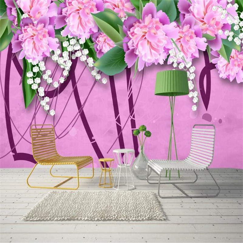 custom 3 d stereo nordic modern desktop wallpaper pink background wall murals living room decor house wallpaper beautiful flower modern simplicity nordic landscape sun wallpaper geometric triangle television background wallpaper gray system home decor