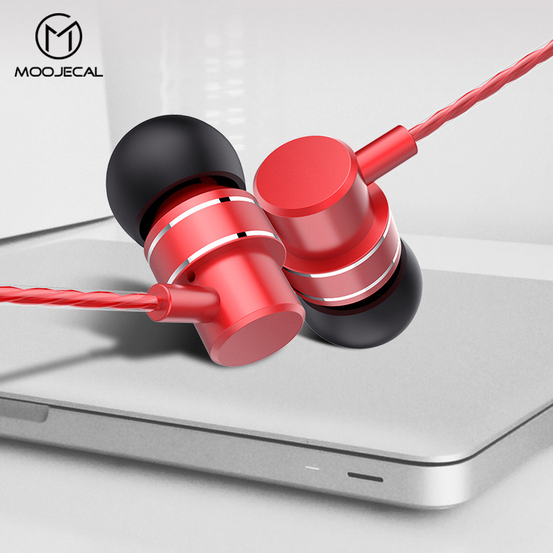 Metal Earphone earbuds for xiaomi huawei samsung iphone With Microphone Wired headset stereo 3.5mm earphones MP3 fone de ouvido