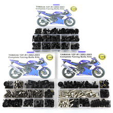 For Yamaha YZF-R1 R1 2002 2003 Motorcycle Full Fairing Bolts Kit Bodywork Screw Fairing Clips OEM Steel Kit Set